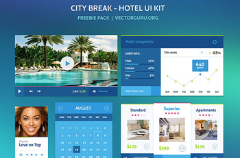 Free PSD UI Kit - City Break