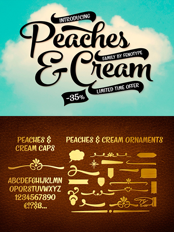 Peaches And Cream font family