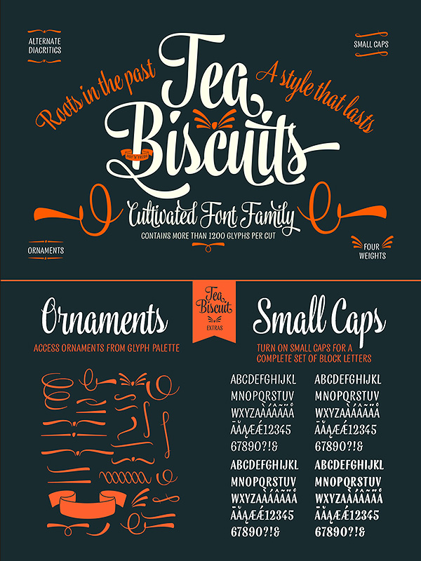 Tea Biscuit font family
