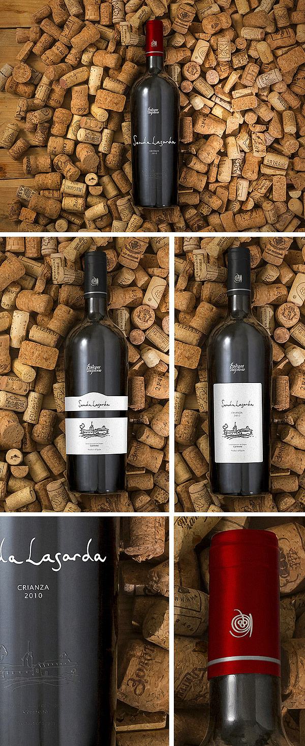Realistic Wine Mockup Set 2