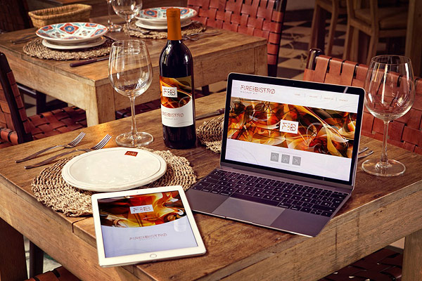 Wine Bottle, iPad Air 2, Macbook mock-ups