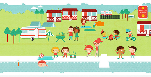 Summer Camp Illustrations for Travel Agency