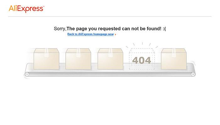 error 404 AliExpress