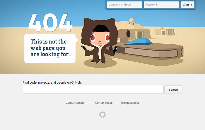 error 404 github