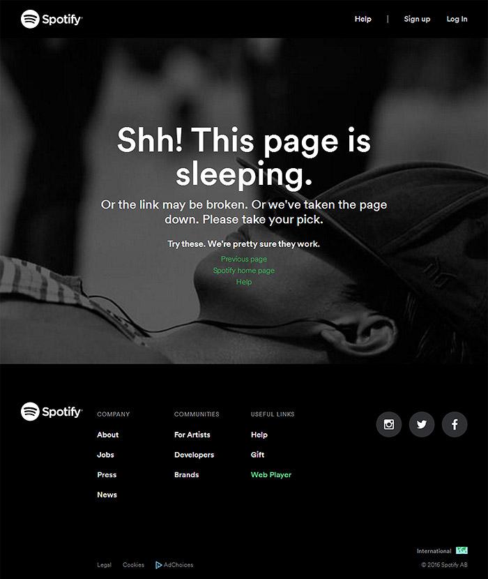 error 404 spotify