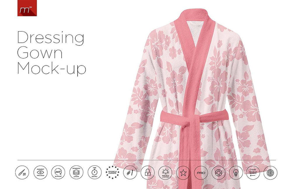 dressing gown mockup preview