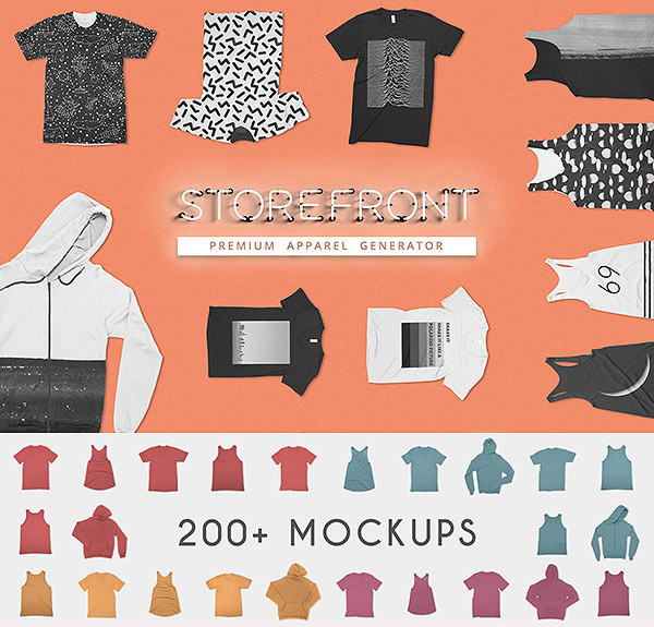 STOREFRONT Apparel Mockups Bundle