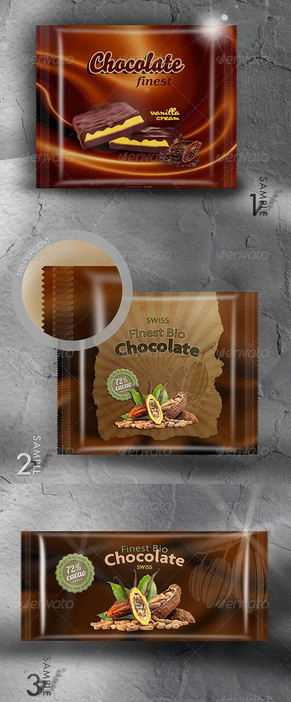 Food (Chocolate) Packaging Mock-Up