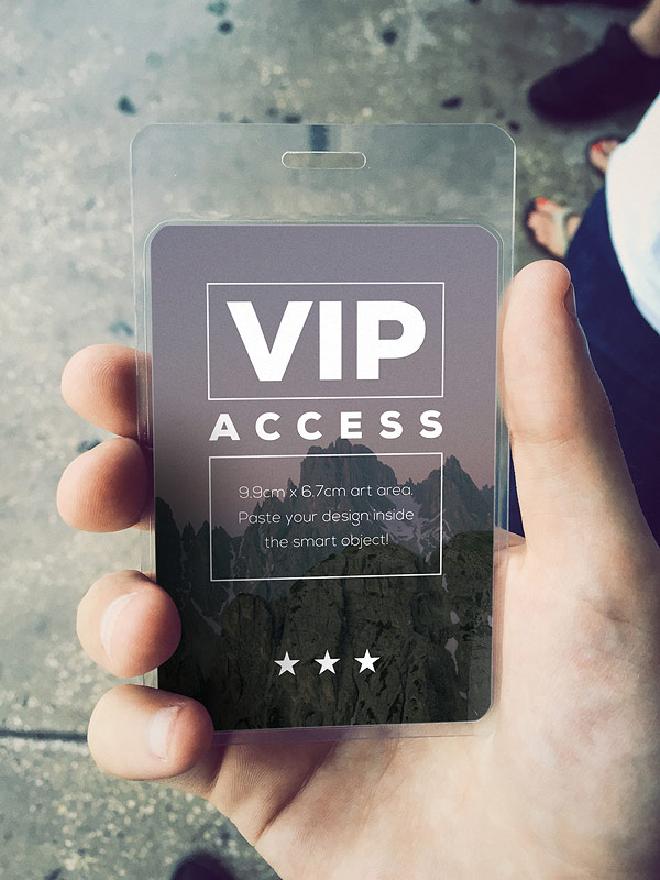 Free VIP Event Pass Mockup PSD