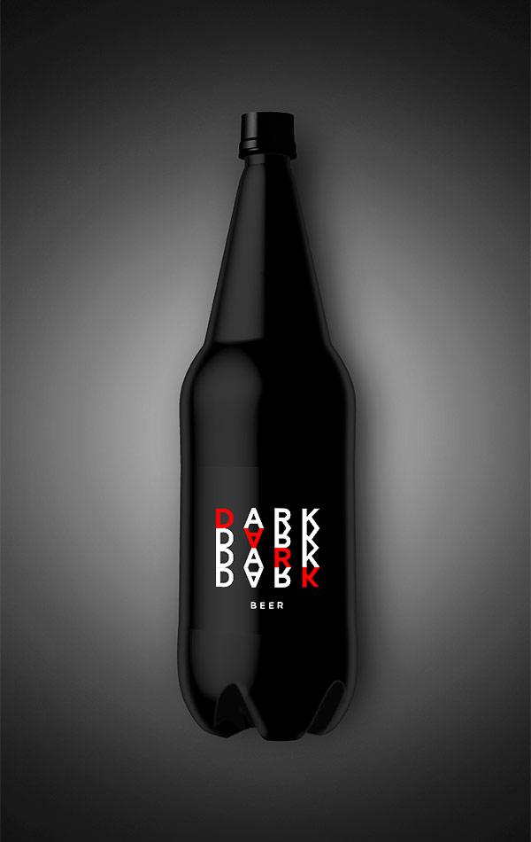 Dark beer mock up