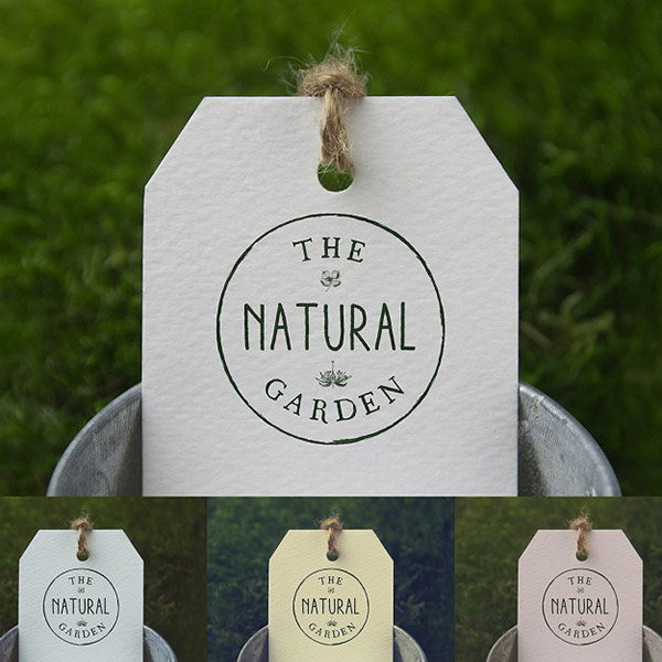 Label realistic presentation Free Psd