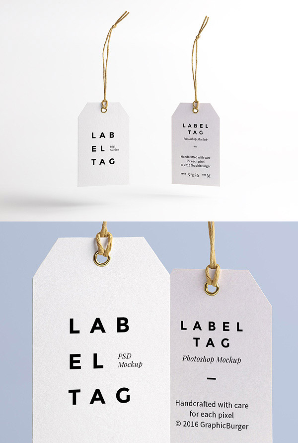 Label Tag PSD MockUp
