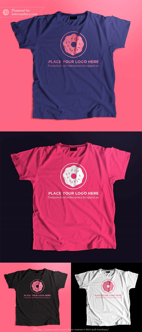 Free Women's T-Shirt Mockup 2016