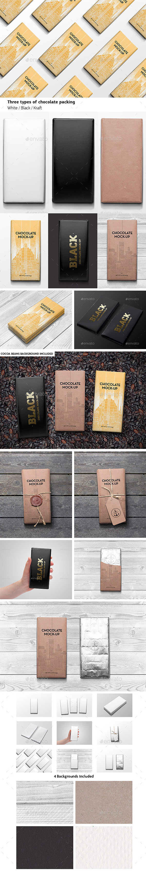 Packaging Chocolate Mock-Up