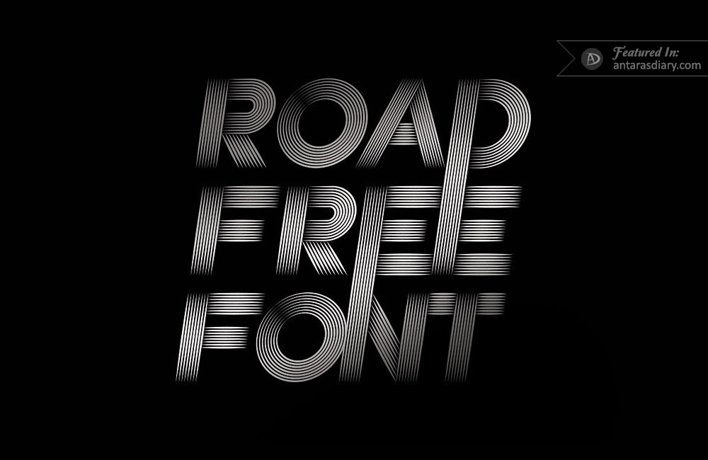 road free vector font preview