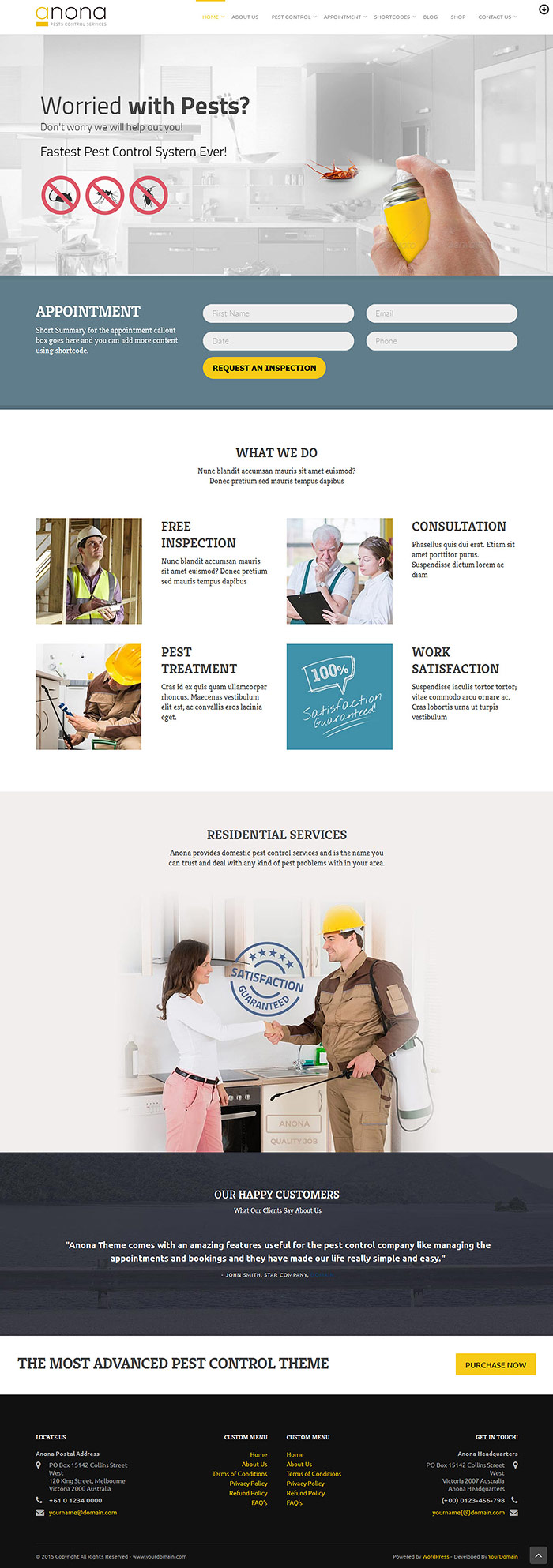 Anona Pest Control WordPress Theme