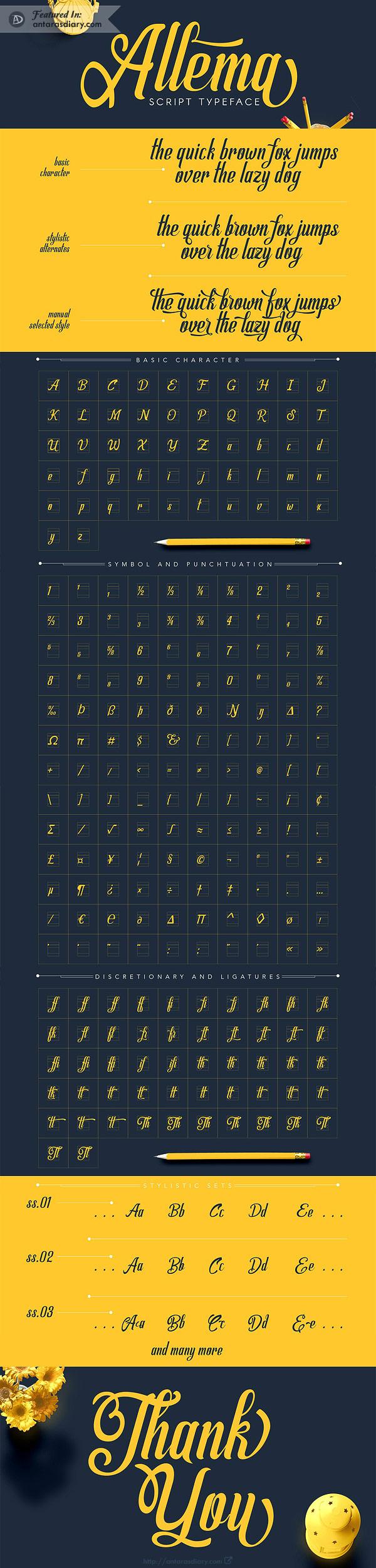 Free Font - Allema Script