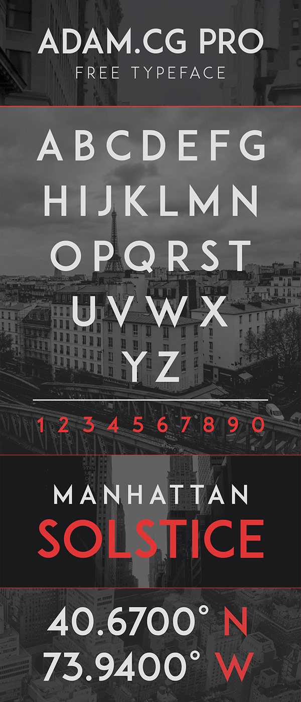 Free Font - ADAM.CG PRO
