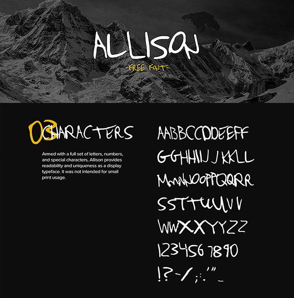 Free Font - Allison