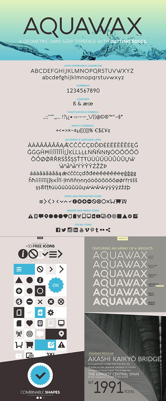 Free Font - Aquawax