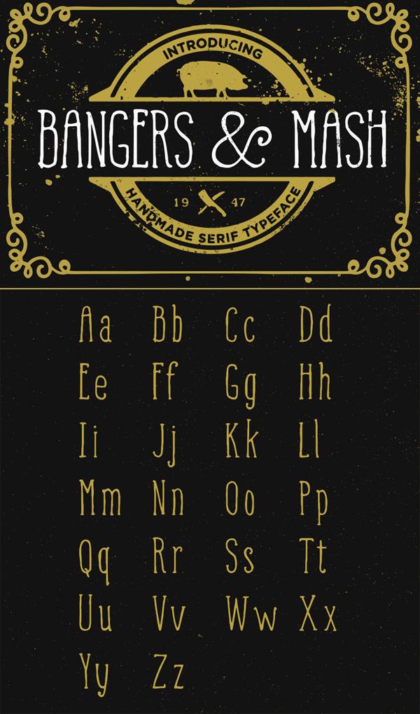 Free Font - Bangers and Mash