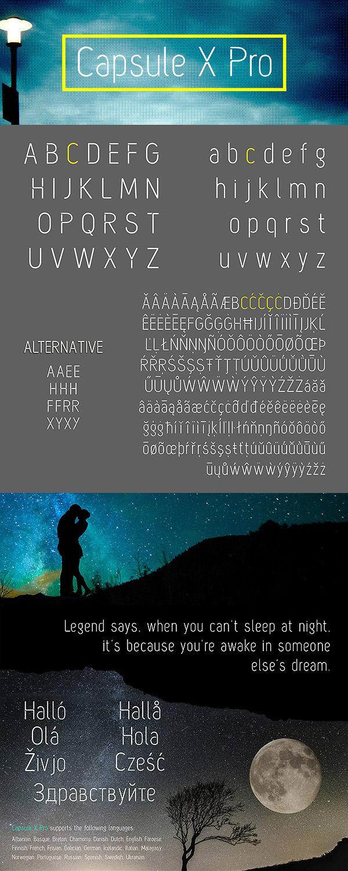 Free Font - Capsule X Pro