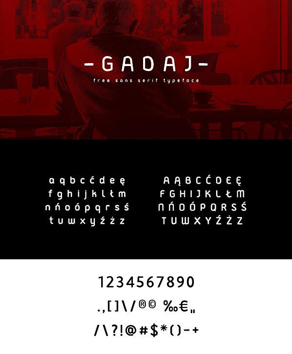 Free Font - Gadaj