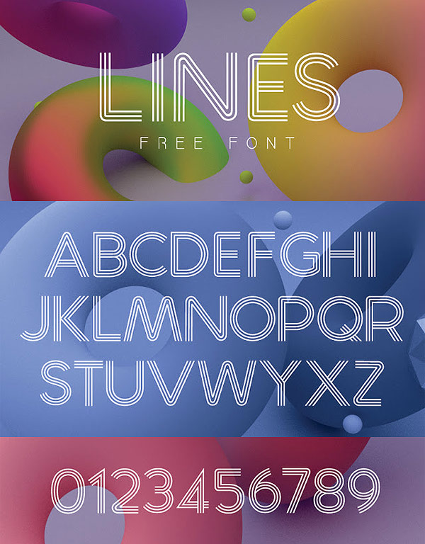 Free Font - Lines