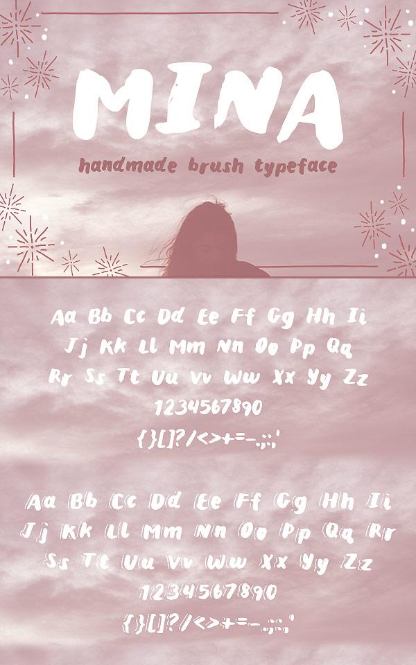 Free Font - Mina brush