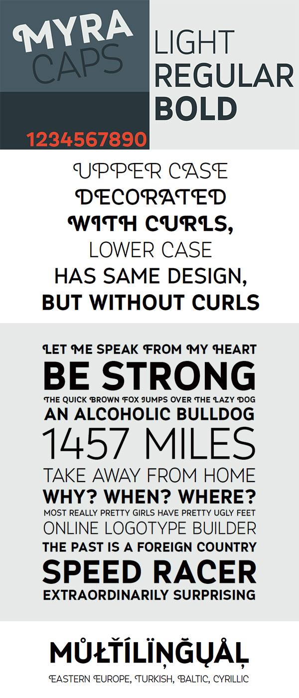 Free Font - Myra 4F Caps