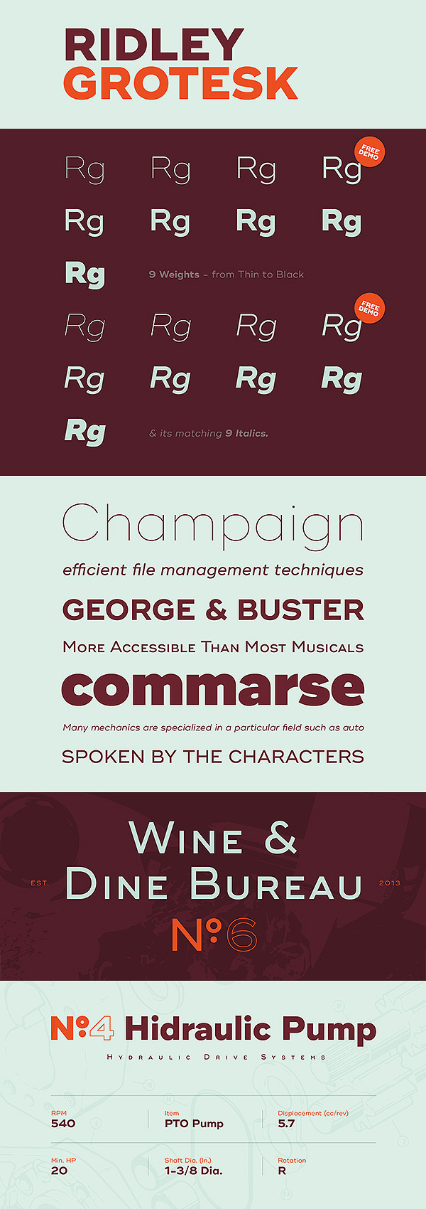 Free Font - Ridley Grotesk Typface