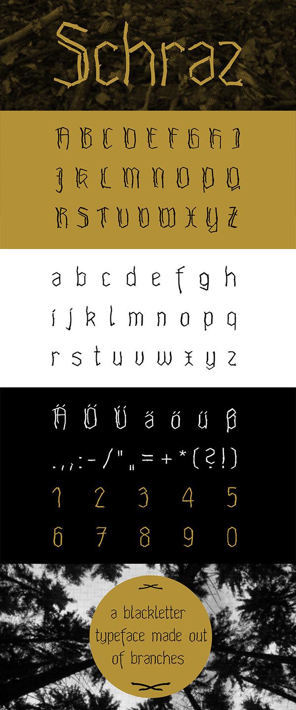 Free Font - Schraz