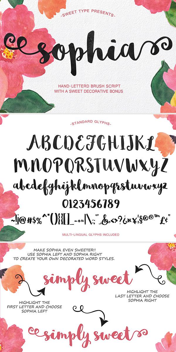 Free Font - Sophia Script