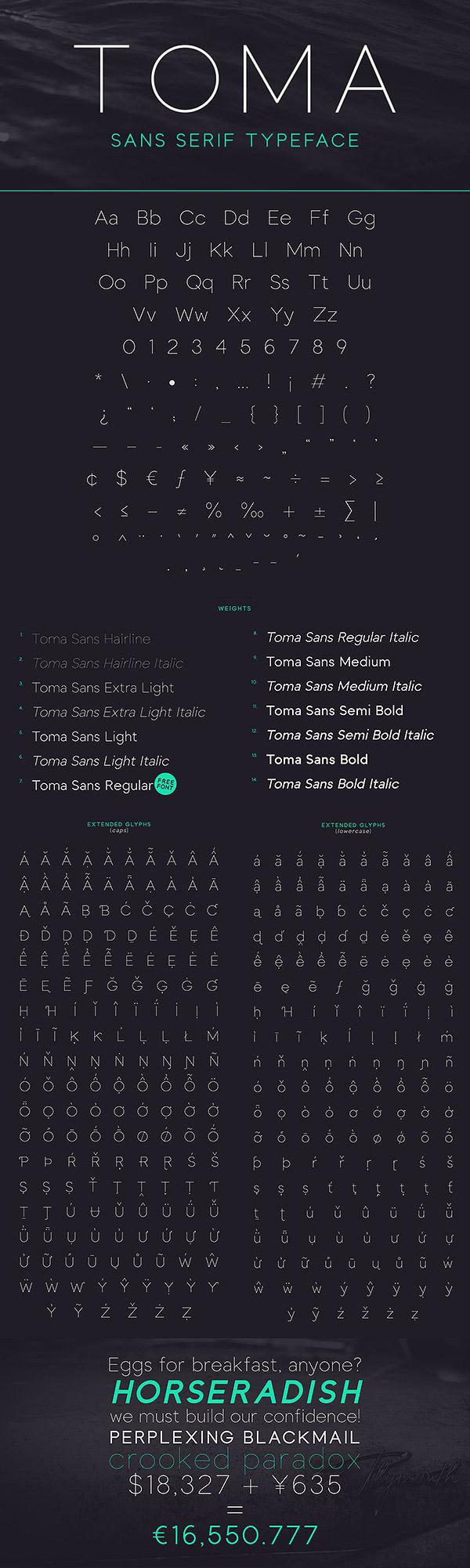 Free Font - Toma Sans
