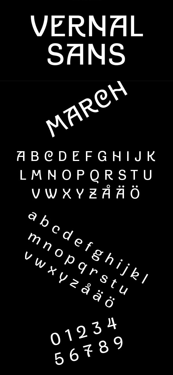 Free Font - Vernal Sans