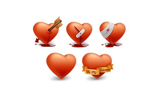 free valentine vector icons
