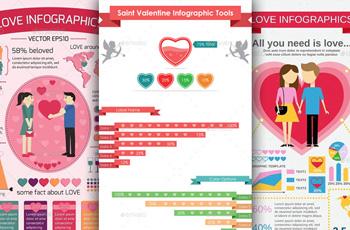 valentine love infographics