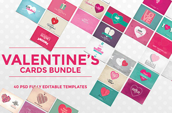 valentine cards bundle