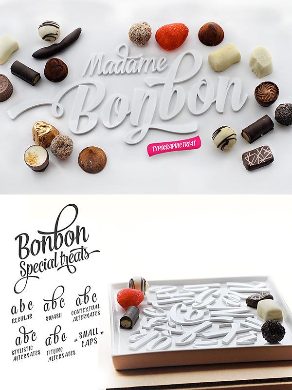 Bonbon font family
