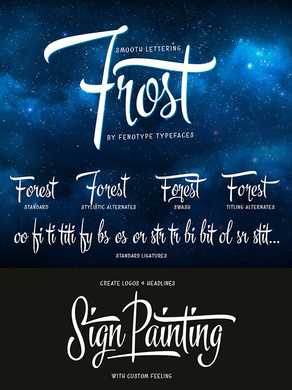 Frost-Vintage Script Family
