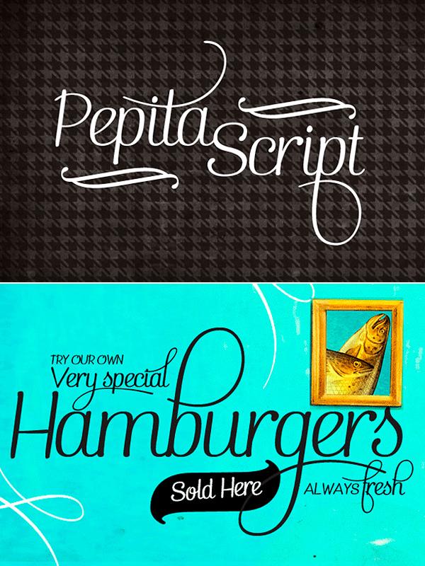 Pepita Script font family