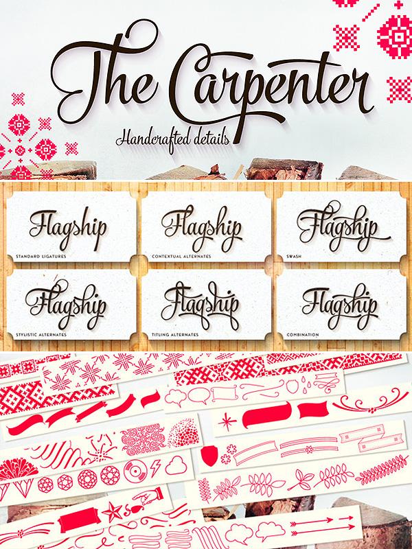 The Carpenter font family