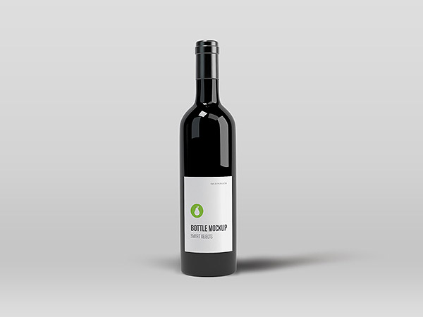 Black Bottle Mockup