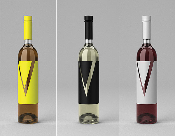 Free Wine Bottle Mock-Up