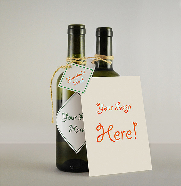 Wine Bottle & Greeting Card mock-ups