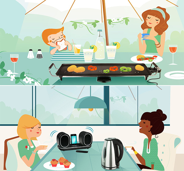 Domoclip Illustrations by Maite Franchi