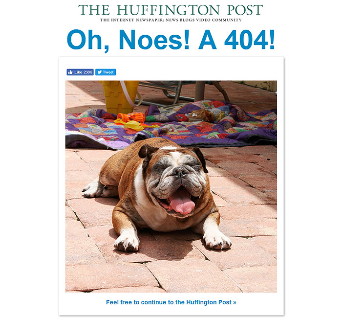 error 404 HuffingtonPost