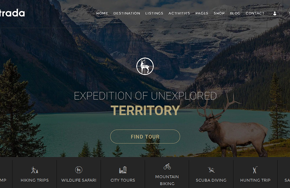 Entrada travel wordpress theme tour booking adventure tour preview