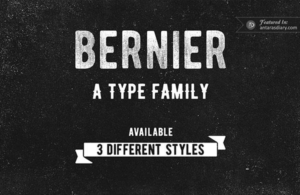 Bernier free vintage font family preview