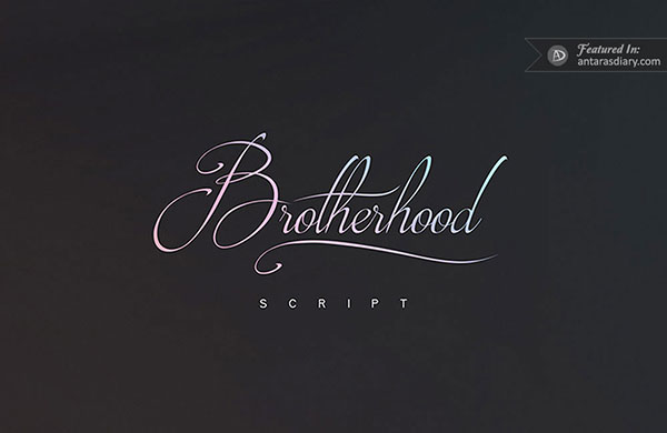 Brotherhood Script free font preview
